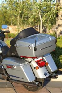 There's plenty of storage space in the saddlebags and Tour Pak, standard items for the Road Glide Ultra.
