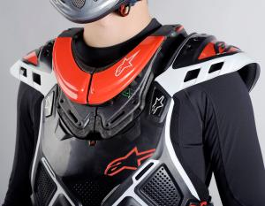 Here we can see the Bionic Neck Support ($289.95 - $529.95) in red is integrated with the A-10 chest protector.