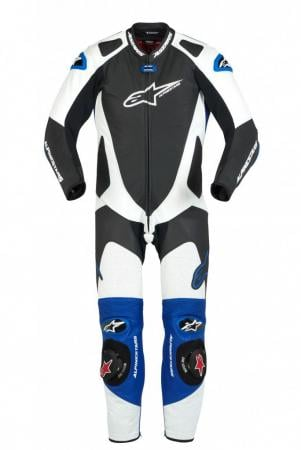 GP PRO 1PC LTH SUIT BLK WHT BLUE