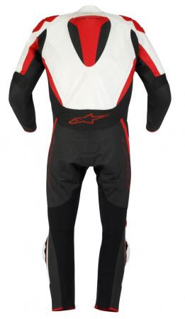 TECH 1 R- SUIT WHT RED BK