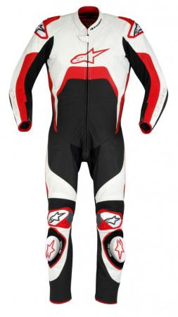 TECH 1-R-SUIT WHT RED FR