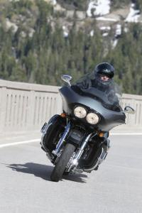 The distinctive Road Glide fairing is capped by a newly angled windscreen tested in a wind tunnel.