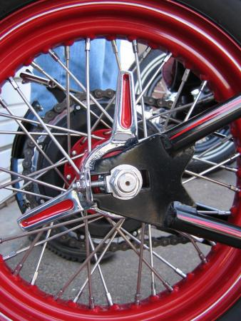 Custom Triumphs - Kane-rear-wheel