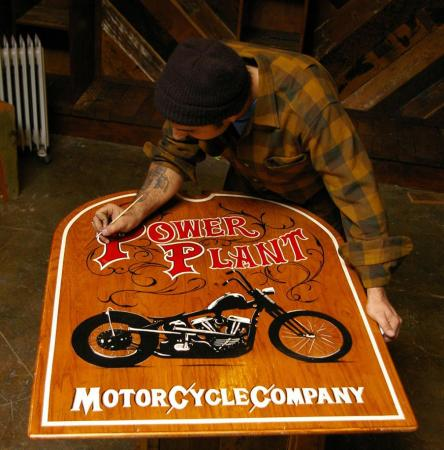 Custom Triumphs - POW-Y painting-sign-2