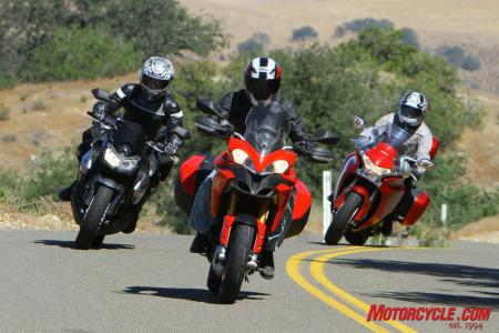 For the author, the Multistrada makes the best of every situation, and therefore is his idea of a sport-touring motorcycle in this three-way battle.