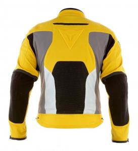 Yellow is one of five color choices. See images of the red, blue, black and gray versions in the photo gallery. Photo courtesy of Dainese.