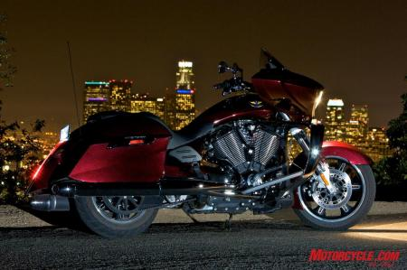 Victory's Cross Country harmoniously combines performance, comfort and styling, making it our favorite cruiser in 2010.