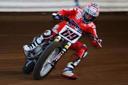 Grand Marshal Nicky Hayden rode a few laps on a Ducati Hypermotard 1100EVO.