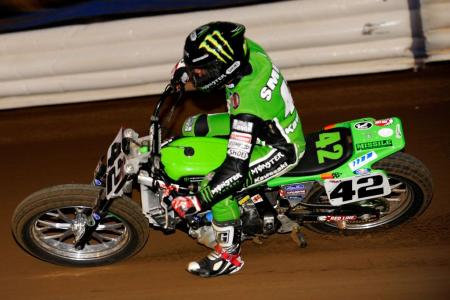 Bryan Smith won Kawasaki its first AMA Pro Flat Track victory.