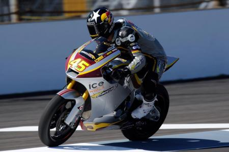 British racer Scott Redding finished third in the first Moto2 race to be held in the U.S. Photo copyright of GEPA pictures.