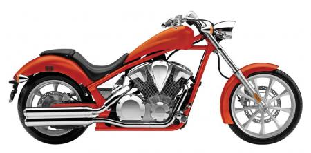 2011 Honda Fury in Matte Orange Mettalic.