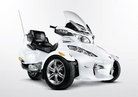 The 2011 Can-Am Spyder RT Limited is available exclusively in Pearl White.