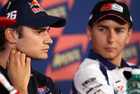 Dani Pedrosa beat Jorge Lorenzo for his second straight win, but Shoya Tomizawa's death remained on the top of people's minds.