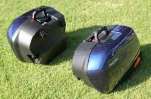 Large 31 L: (8.2 gallon) saddlebags detach and attach easily.
