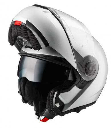 The C3, with innovative tinted eye shield, and its sister version are for now the only helmets Schuberth is importing. A communication system for this and a few other Schubert helmets is also being imported. (Photo courtesy of Schuberth).