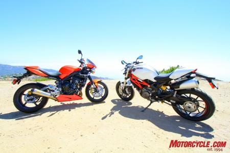 Ducati Monster 796 vs Triumph Street Triple R IMG_6495