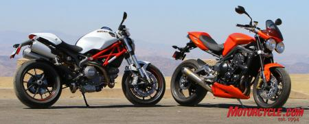 Ducati Monster 796 vs Triumph Street Triple R IMG_6609