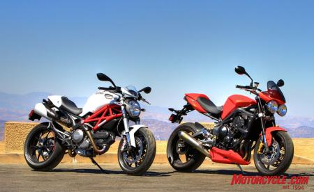 Ducati Monster 796 vs Triumph Street Triple R IMG_6615