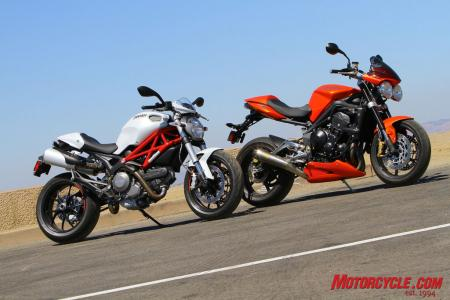 Ducati Monster 796 vs Triumph Street Triple R IMG_6624