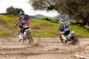 Spitting dirt, and making the sound of a big electric drill, two Zero dirtbikes show they�re not exactly gelded, and offer their own brand of fun.