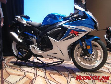 The 2011 GSX-R600 has been overhauled from top to bottom, losing around 20 lbs in the process.