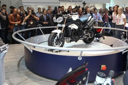 The 2011 Triumph Speed Triple made its debut in Cologne.