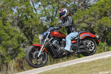 Although the Stryker�s styling means a long, low stance, rider ergos don�t suffer as a result. Most folks should find the fit comfortable for many miles before needing a stretch or pee break.