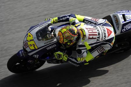 There were no repeats of the previous round's fireworks, but Valentino Rossi did add some drama, winning the race after falling as far back as 11th.