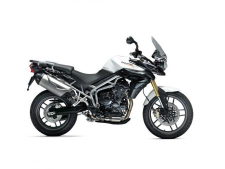Though more of a road bike, Triumph says the Tiger 800 is capable for off-road riding as well.