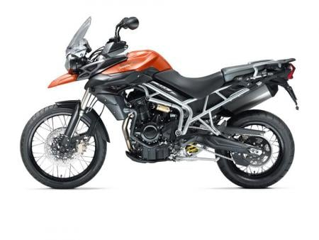 The suspension on the Triumph Tiger 800XC offers more travel than the suspension on the 800.
