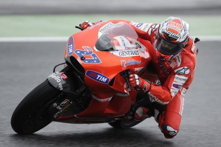 Casey Stoner had a disappointing weekend, crashing out early in the race.