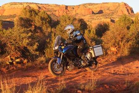 We were among the first to ride Yamaha's new Super Ténéré on American soil. It's a viable contender to BMW's R1200GS, with standard traction control and antilock brakes.