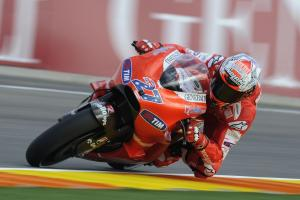 Casey Stoner ended his tenure with Ducati with another podium finish.