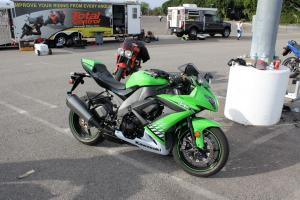The ZX-10R performed flawlessly. Parks says literbikes are more challenging than smaller bikes for low-speed, tight maneuvers.