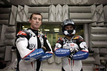Troy Corser Leon Haslam BMW World Superbike team WSBK