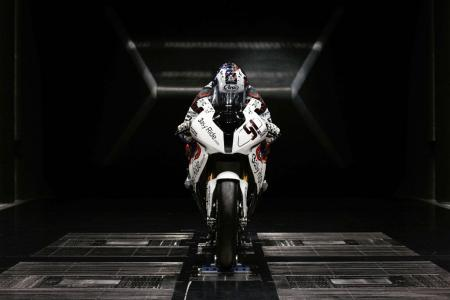 Leon Haslam BMW S1000RR wind tunnel test WSBK