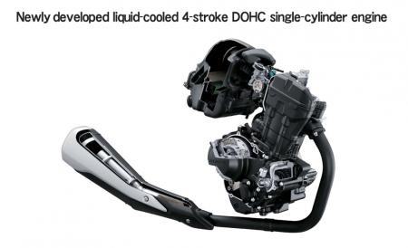 2011 Honda CBR250R Engine
