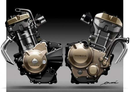 2011 Honda CBR250R Engine Sketch