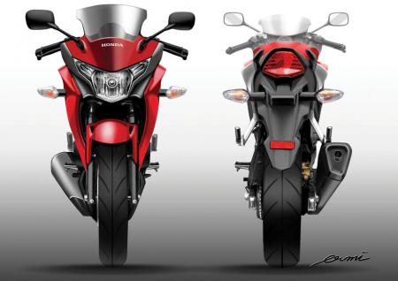 2011 Honda CBR250R Frt Rear Sketch