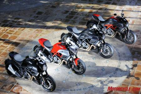 2011 Ducati Diavel color options