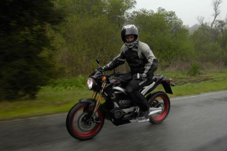 2011 Zero Motorcycles looking in rain