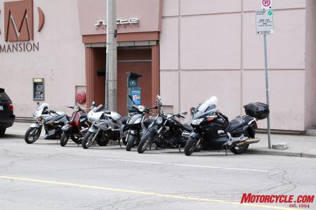 Motorcycle street parking