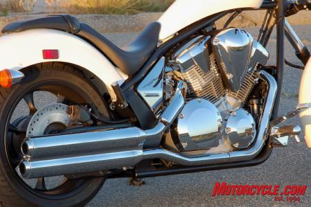 2011 Honda Fury exhaust engine