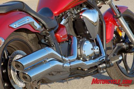 2011 Yamaha Star Stryker exhaust engine