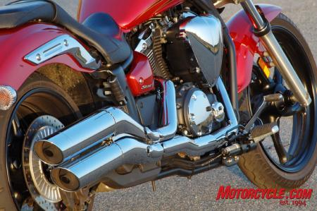 2011 Yamaha Star Stryker exhaust engine1