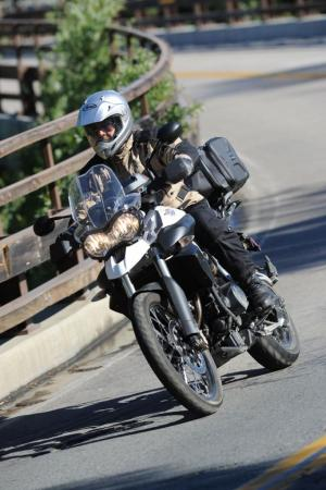 2011 Triumph Tiger 800 XC Action Bridge