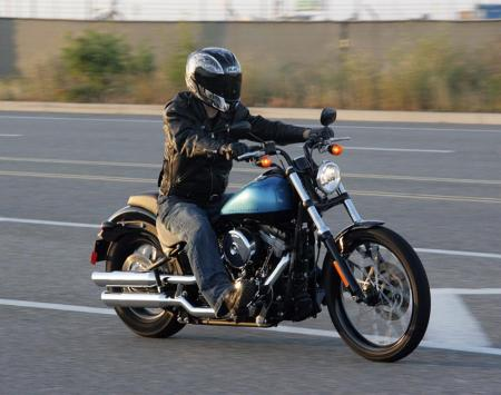 2011 Harley-Davidson Blackline Action1