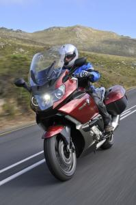 The GT's electrically adjustable windshield, shown here in a raised position, offers a setting to suit riders of all sizes.