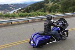 Cruisin� the countryside on a CVO is a dream for many Harley-Davidson fans.