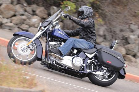 The Convertible's ability to switch from a lightweight tourer to boulevard profiler in a matter of minutes represents forward thinking from CVO. This Softail's ultra-low seat height is part of what makes it the most popular CVO among women. However, limited lean angle is an unfortunate byproduct of lowered suspension.